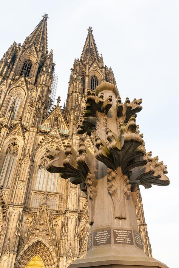 De kathedraal van Keulen in Duitsland royalty-vrije stock afbeeldingen