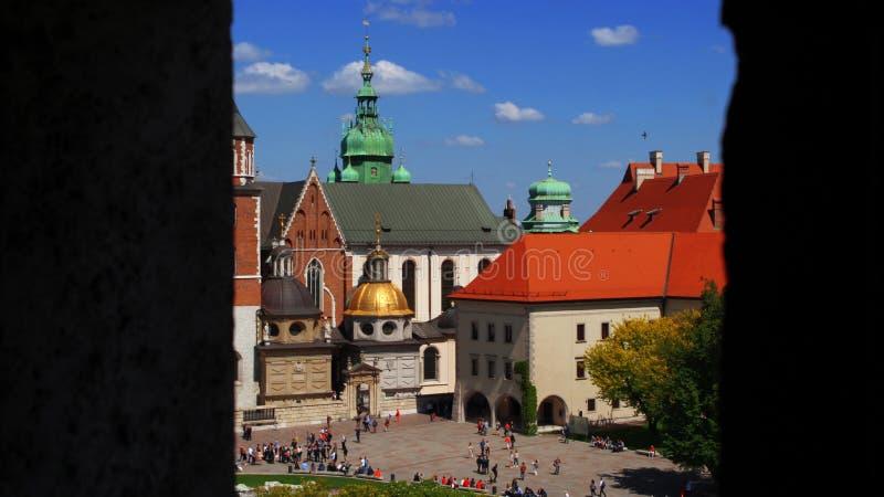 De Kathedraal van Krakau royalty-vrije stock afbeeldingen