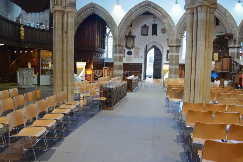 De Kathedraal van Leicester stock foto's