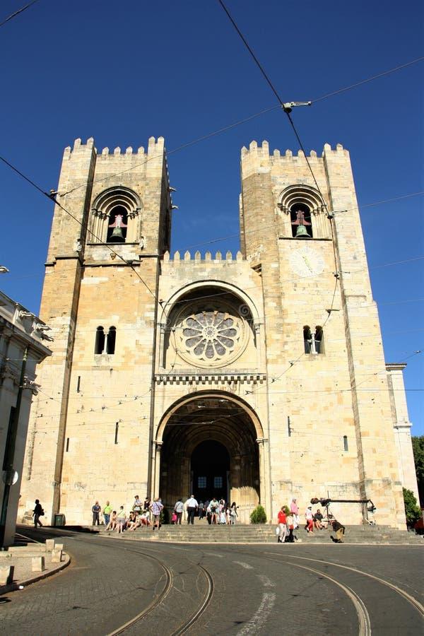 De Kathedraal van Lissabon stock foto's
