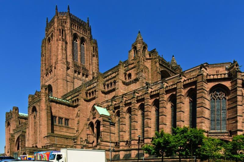 De Kathedraal van Liverpool stock afbeelding