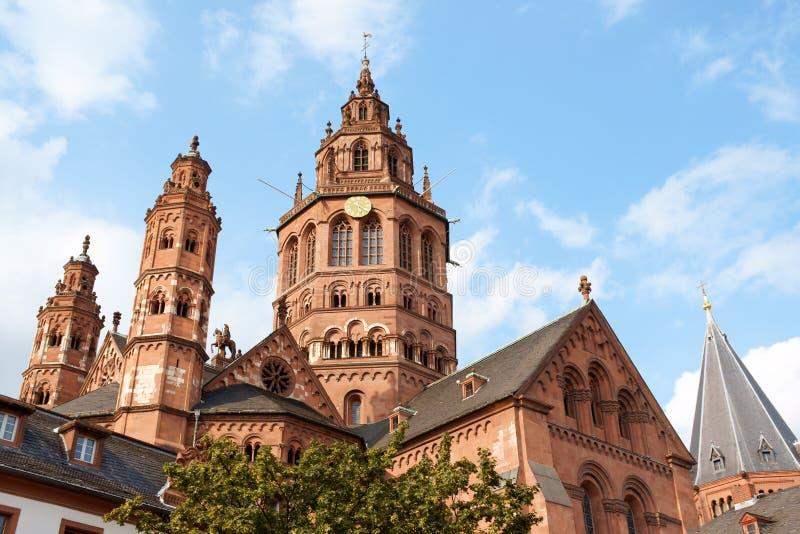 De Kathedraal van Mainz stock foto