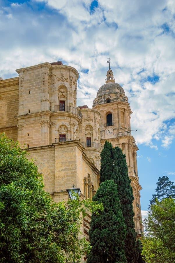 De Kathedraal van Malaga in Andalusia, Spanje stock foto's