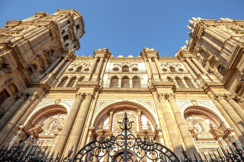 De kathedraal van Malaga, Spanje royalty-vrije stock afbeelding