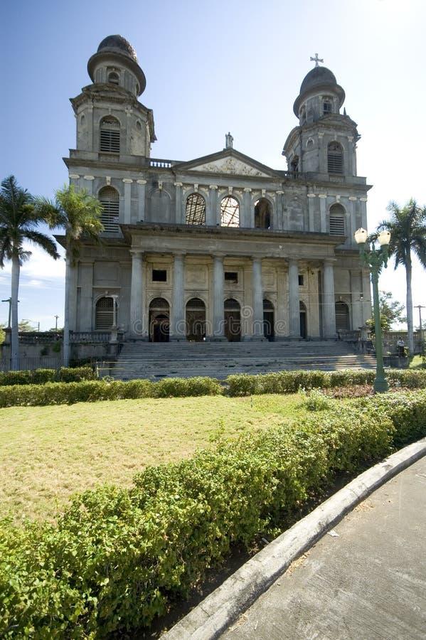 De kathedraal van Managua Nicaragua stock foto