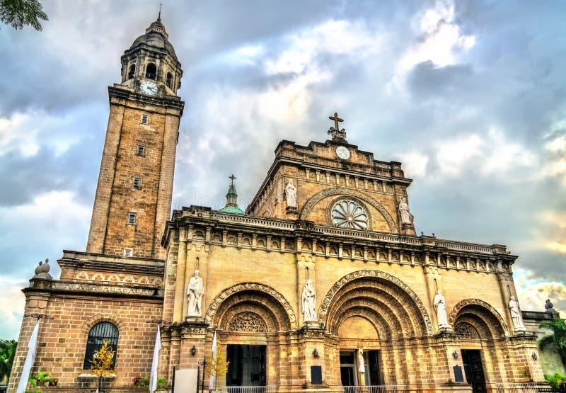 De Kathedraal van Manilla in Intramuros, de Filippijnen royalty-vrije stock fotografie