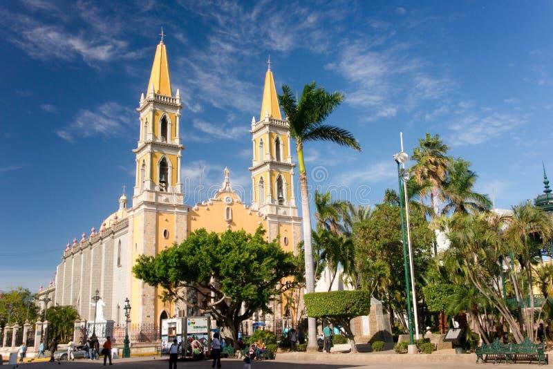De kathedraal van Mazatlan stock fotografie