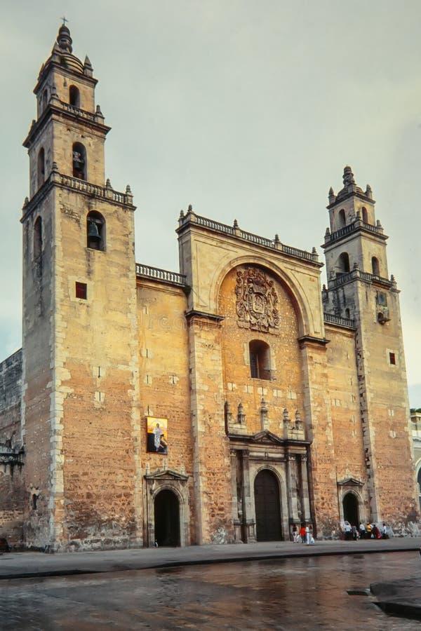 De Kathedraal van Merida ` s van San Ildefonso mexico stock foto's