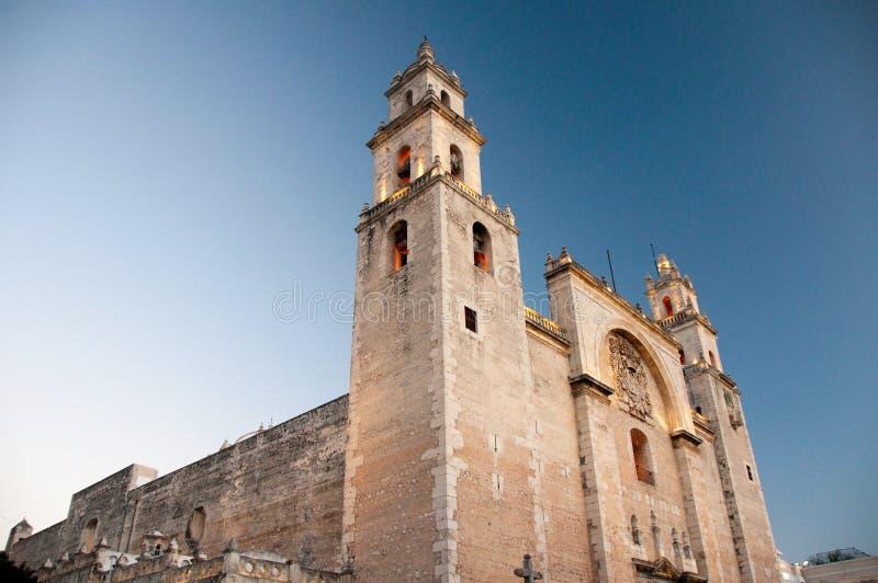 De kathedraal van Merida, Yucatan (Mexico) stock foto's