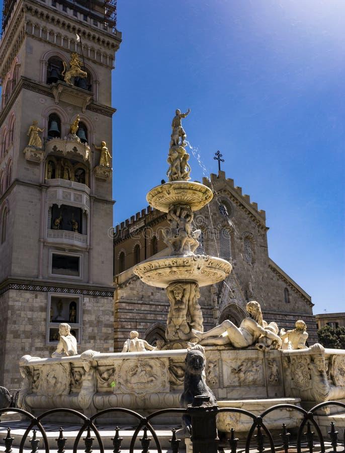 De Kathedraal van Messina Duomo, Italië Sicilië royalty-vrije stock afbeeldingen