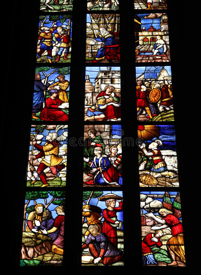 De kathedraal van Milaan stock afbeelding