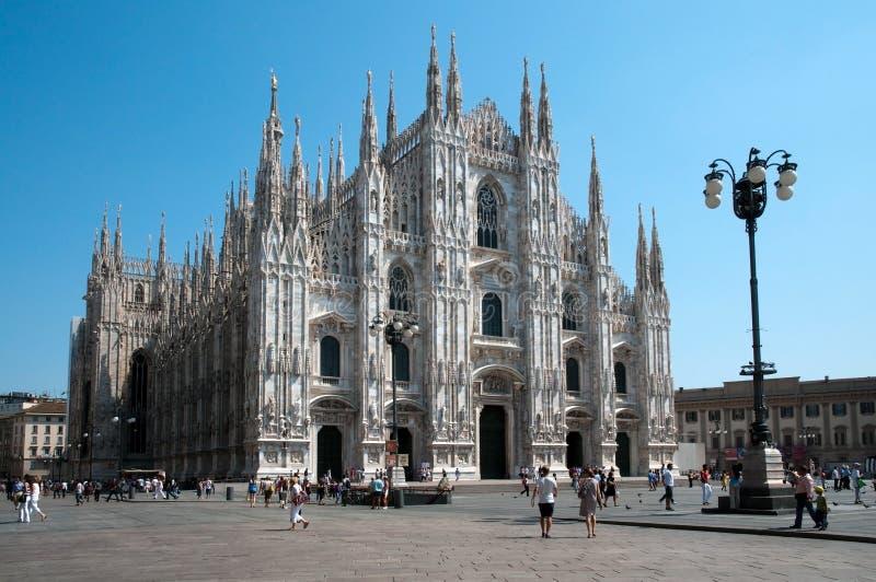 De Kathedraal van Milaan (Koepel, Duomo) royalty-vrije stock foto's