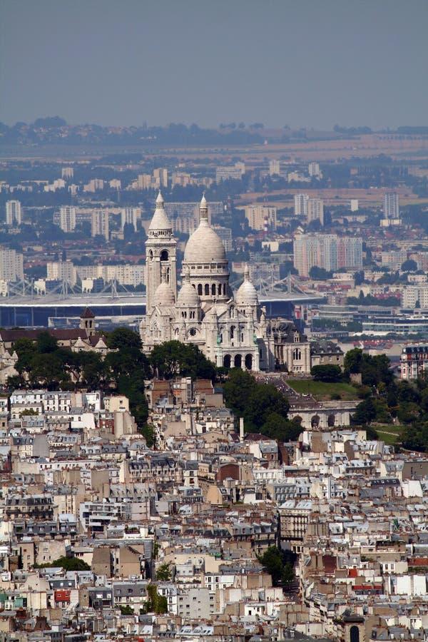 De kathedraal van Montmartre royalty-vrije stock fotografie