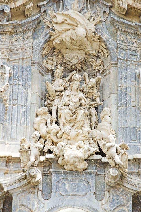 De Kathedraal van Murcia stock foto