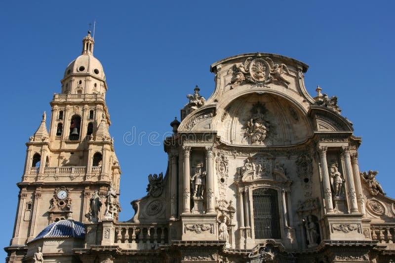 De kathedraal van Murcia stock foto's