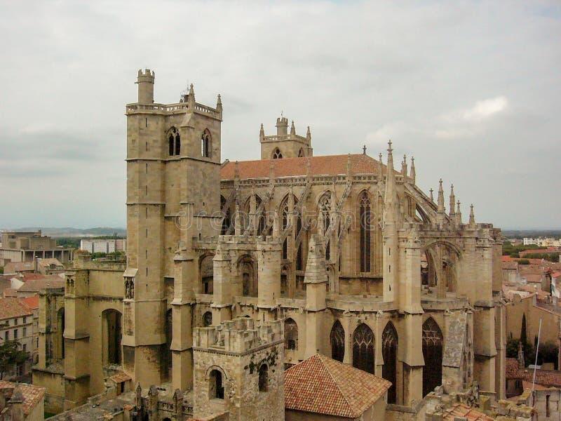 De kathedraal van Narbonne royalty-vrije stock foto's