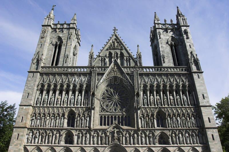 De Kathedraal van Nidaros stock foto's