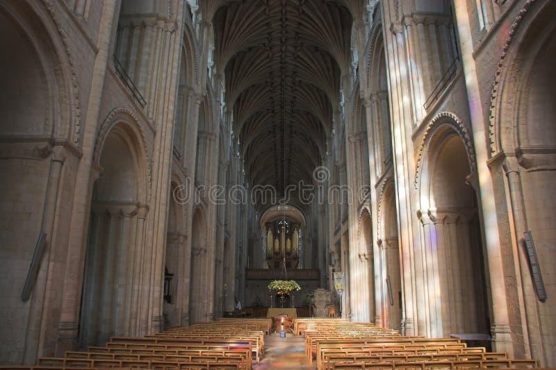 De Kathedraal van Norwich stock afbeeldingen