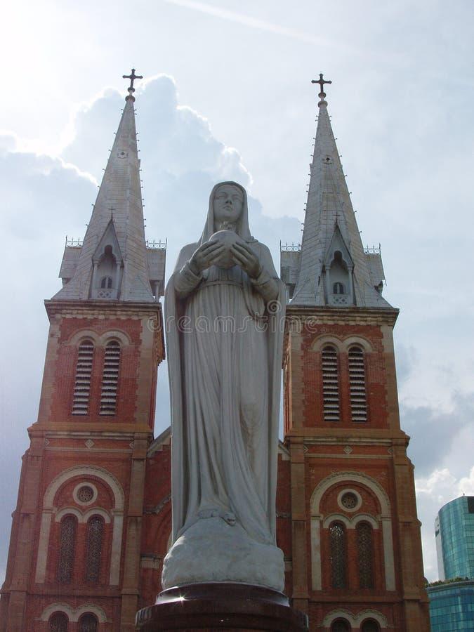 De kathedraal van Notre Dame stock foto's