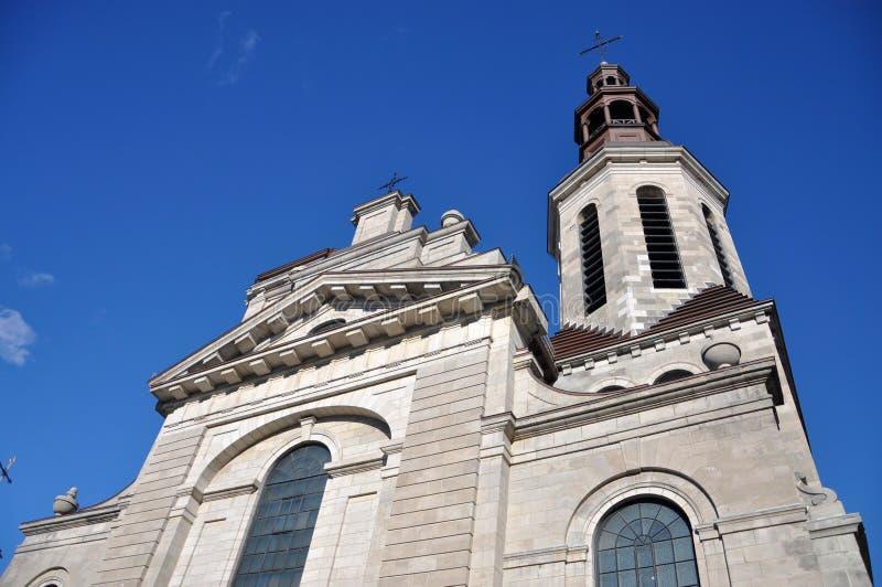De Kathedraal van Notre-Dame DE Quebec stock foto