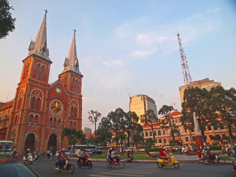 De kathedraal van Notre Dame, Ho-Chi-Minh-Stad, Vietnam. stock afbeeldingen