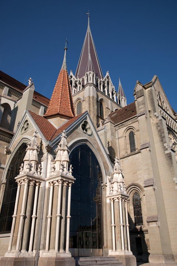 De Kathedraal van Notre Dame; Lausanne royalty-vrije stock afbeeldingen