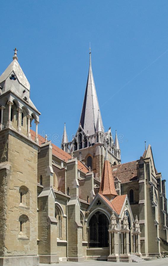 De Kathedraal van Notre Dame van Lausanne stock fotografie