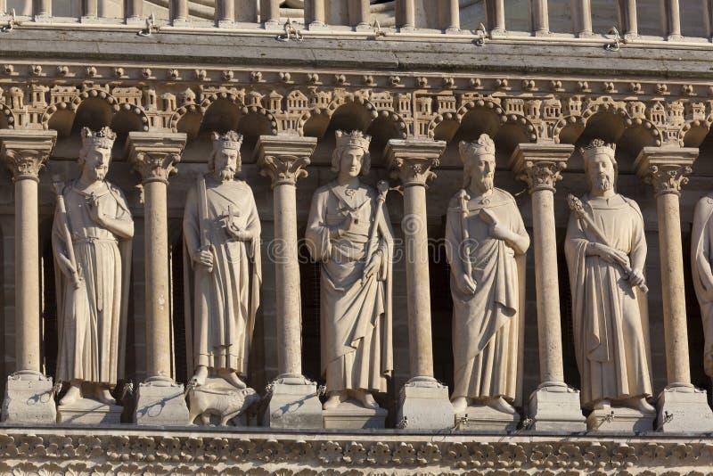 De Kathedraal van Notre Dame, Parijs stock foto's