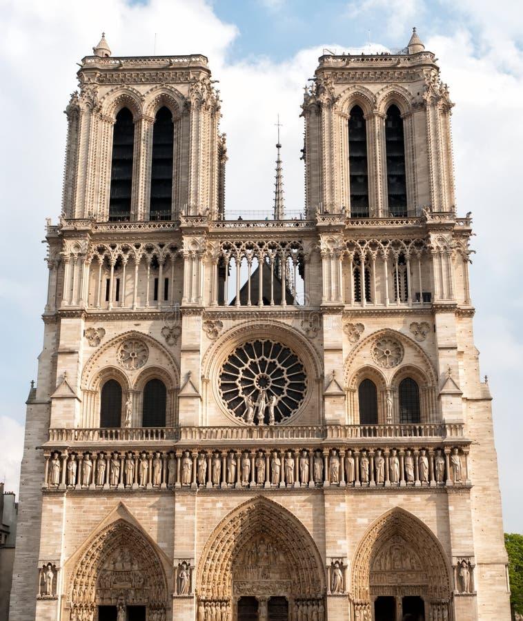 De Kathedraal van Notre Dame in Parijs royalty-vrije stock fotografie