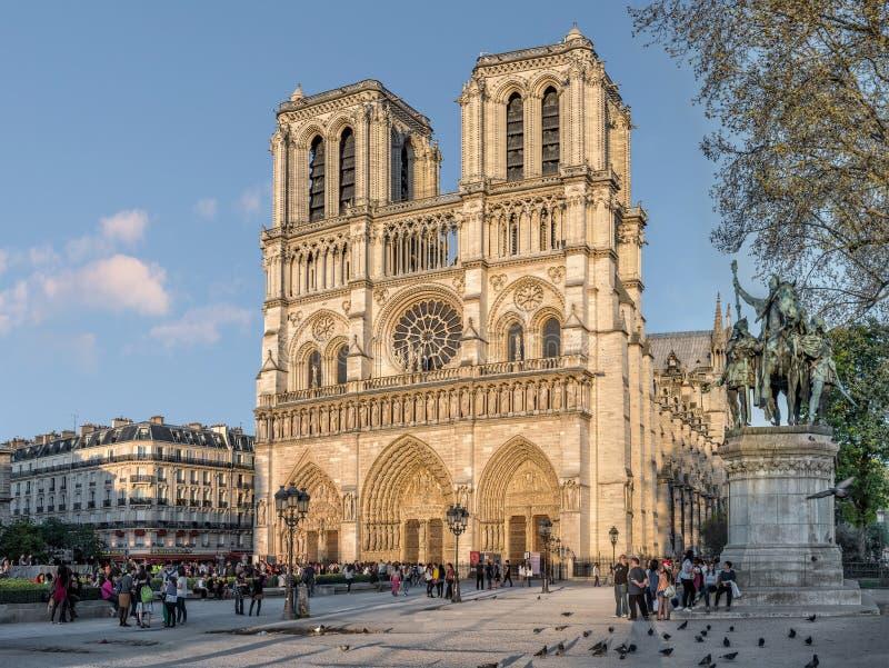 De Kathedraal van Notre-Dame in Parijs stock afbeelding