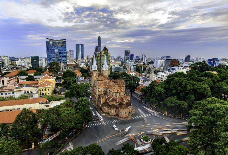 De Kathedraal van Notre Dame in Saigon royalty-vrije stock afbeelding