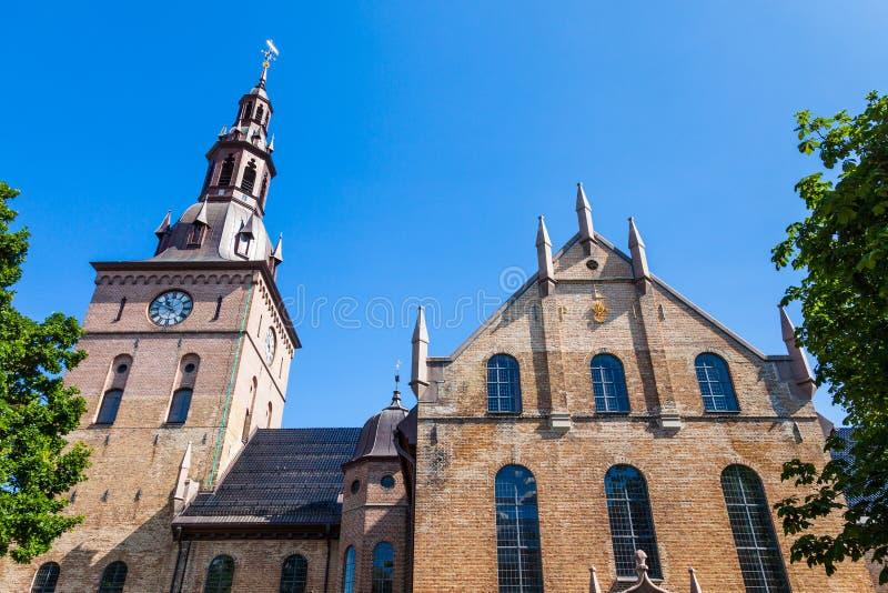 De Kathedraal van Oslo royalty-vrije stock foto's