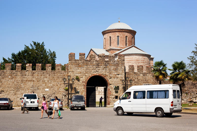 De Kathedraal van Pitsunda royalty-vrije stock fotografie