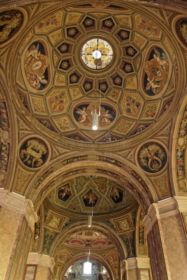 De Kathedraal van Pompei stock foto