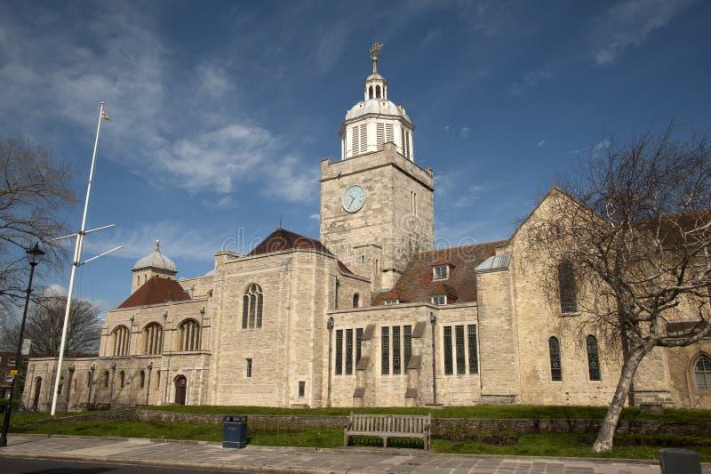 De Kathedraal van Portsmouth royalty-vrije stock afbeelding