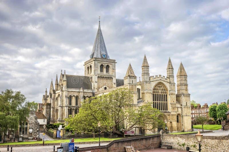 De Kathedraal van Rochester in Kent, Engeland stock afbeeldingen