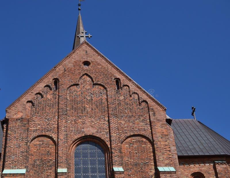 De Kathedraal van Roskilde stock afbeeldingen