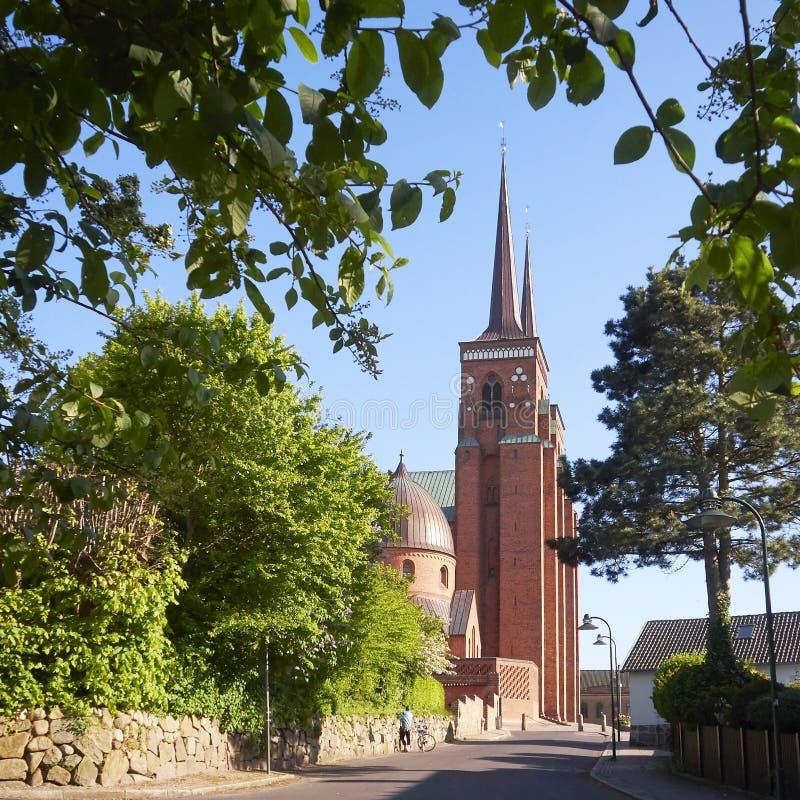 De Kathedraal van Roskilde royalty-vrije stock afbeeldingen