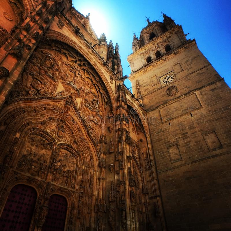 De Kathedraal van Salamanca, Spanje stock afbeeldingen