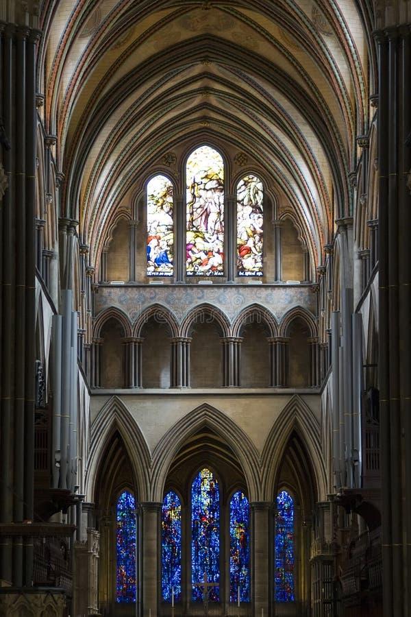 De Kathedraal van Salisbury stock afbeeldingen