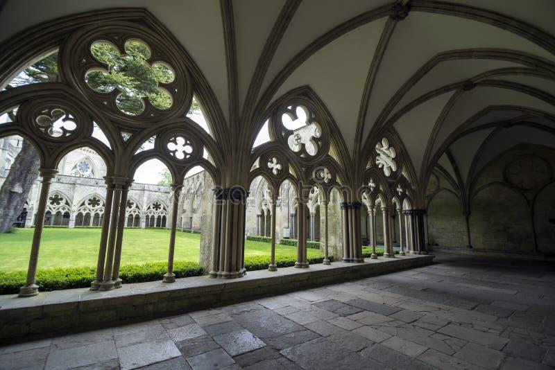 De Kathedraal van Salisbury, het UK stock foto's