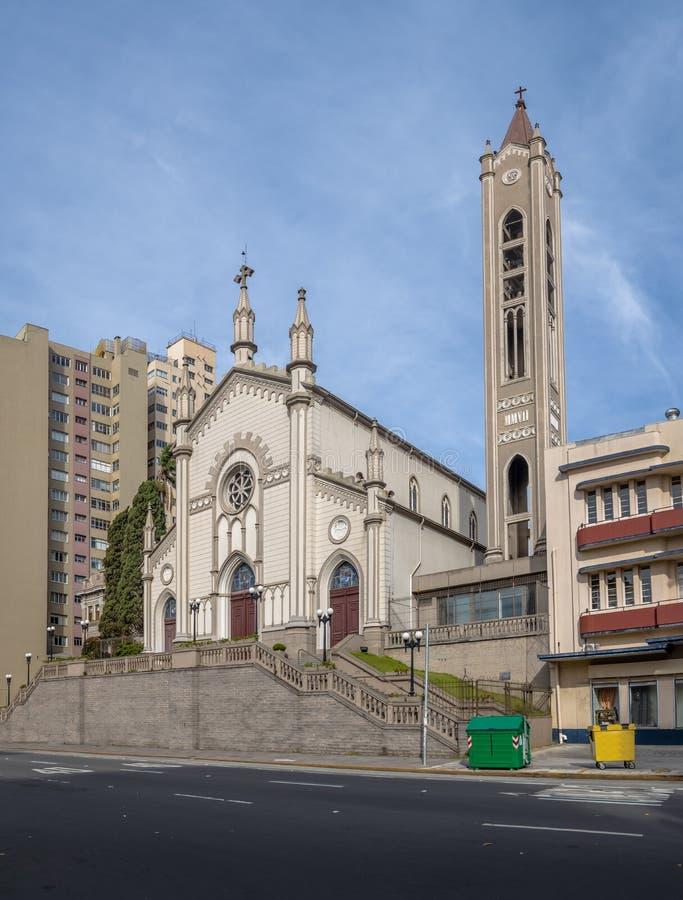 De Kathedraal van Santa Teresa D ` Avila - Caxias do Sul, Rio Grande doet Sul, Brazilië stock afbeelding