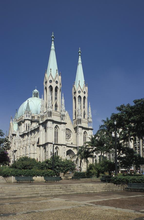 De kathedraal van Sao Paulo, Brazilië stock foto