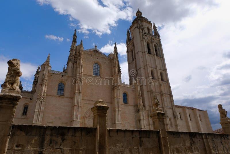 De Kathedraal van Segovia in Spanje royalty-vrije stock foto