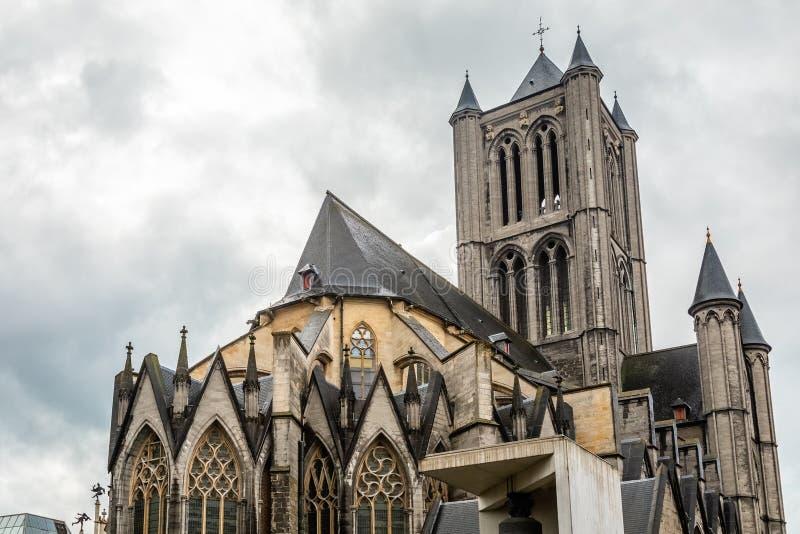 De kathedraal van Sint Nicholas, Gent, België royalty-vrije stock fotografie