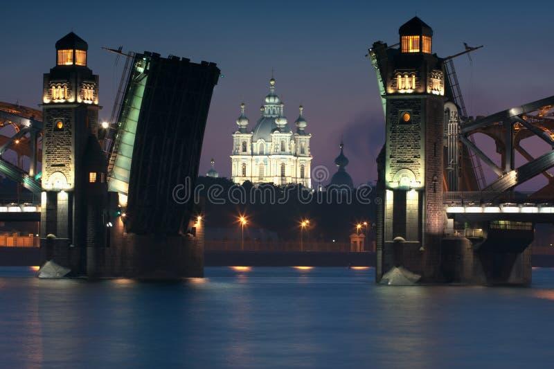 De kathedraal van Smolny stock fotografie
