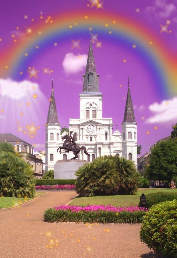 De Kathedraal van St.Louis, het de kunstwerk van New Orleans
