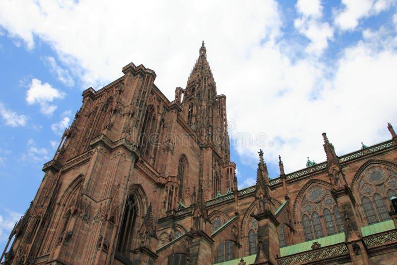 De Kathedraal van Straatsburg stock afbeelding