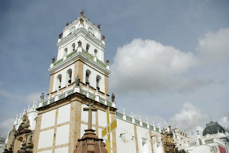 De kathedraal van sucre, Bolivië stock afbeelding