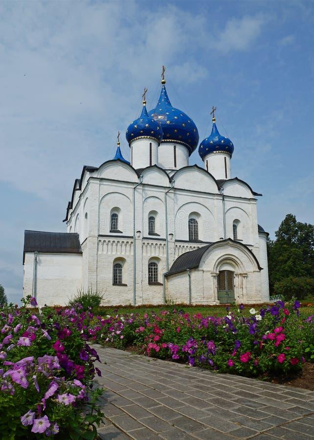 De Kathedraal van Suzdal het Kremlin. Rusland royalty-vrije stock foto